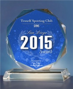 TruSelf Sporting Club best gym of San Diego 2015 award