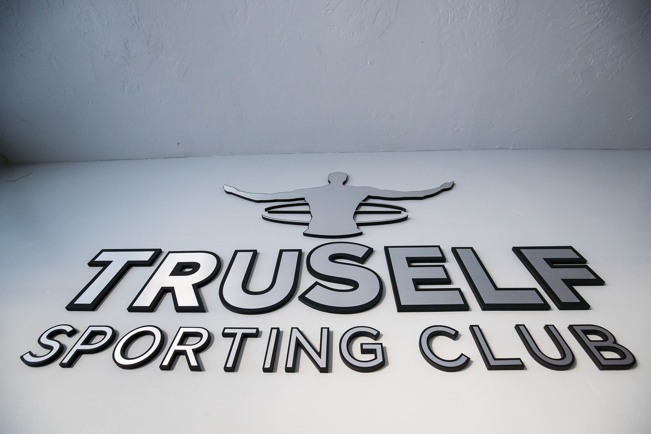 TruSelf Sporting Club steel logo