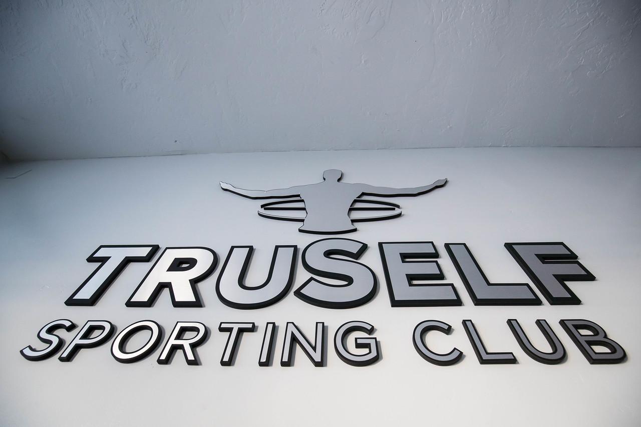 TruSelf Sporting Club steel logo