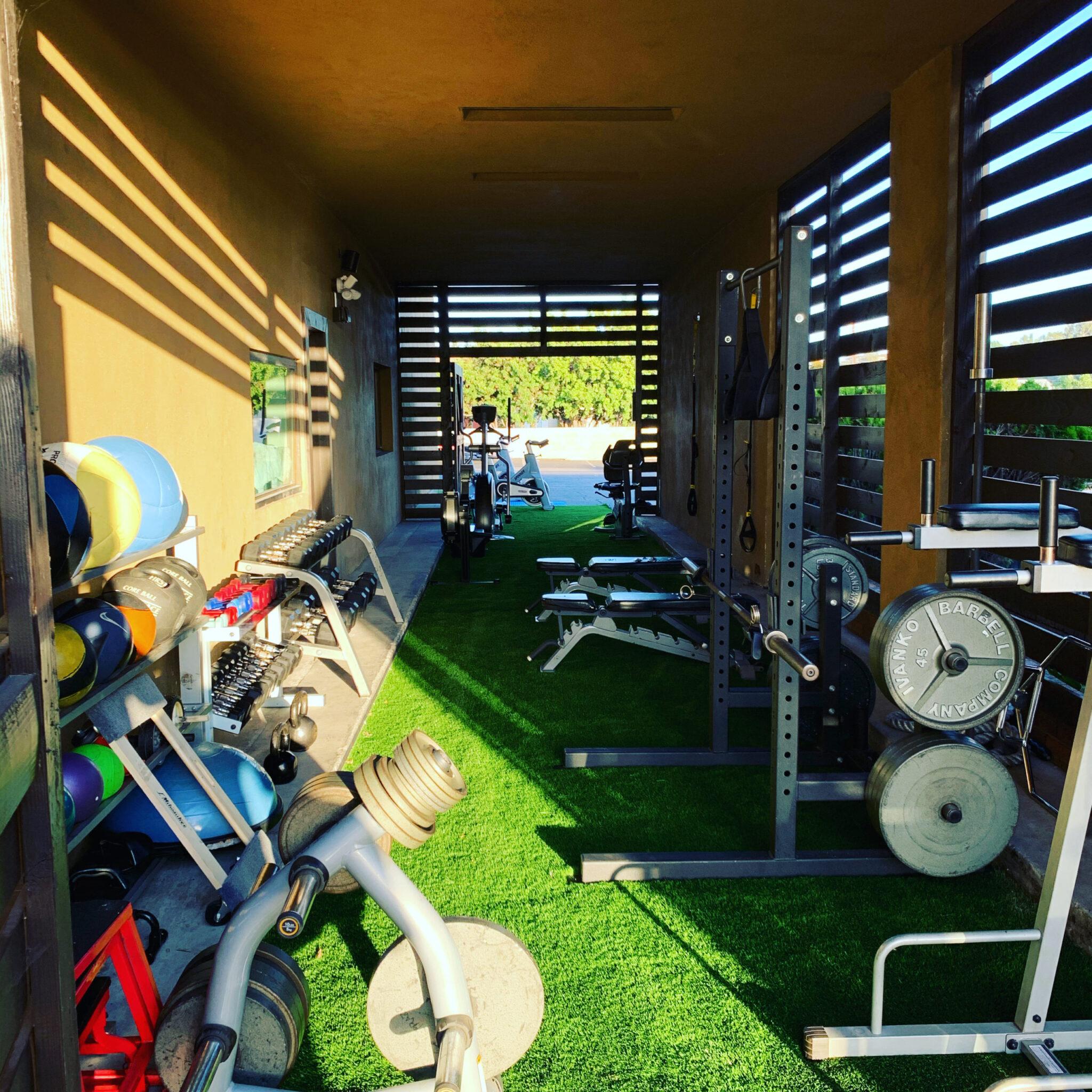 Outdoor Workout Gym Space TruSelf Sporting Club San Diego Gym