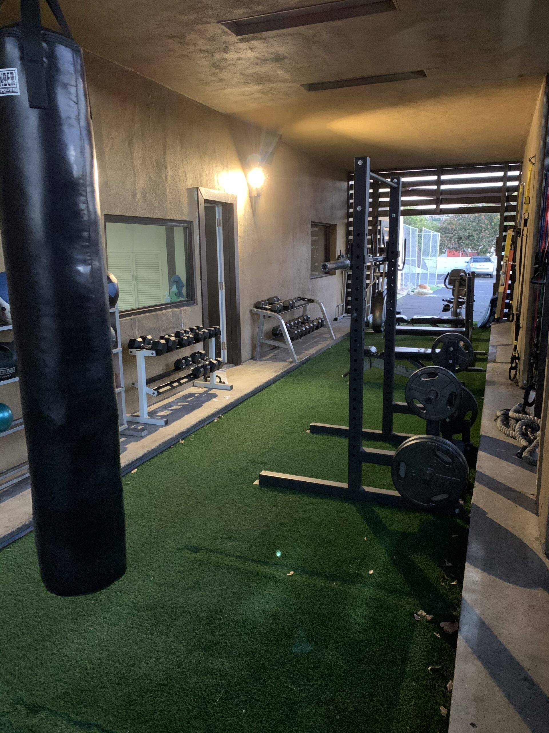 TruSelf Sporting Club Boxing bags boxing gym area